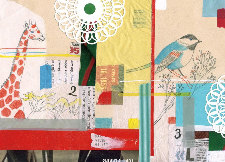 collage01/千趣会・2012年手帳 表紙コラージュ